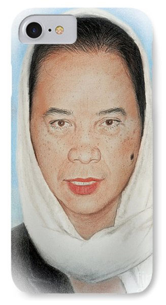 Filipina Woman Wearing A Scarf IPhone Case by Jim Fitzpatrick