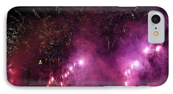 IPhone Case featuring the photograph Fireworks Along The Love River In Taiwan by Yali Shi