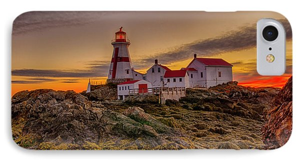 Awaiting Dawn At Head Harbor Lighthouse IPhone Case by Lee Kappel