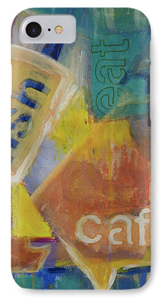 IPhone Case featuring the painting Fish Cafe by Susan Stone