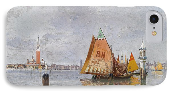 Fishing Boats In The Lagoon Of Venice IPhone Case by Carlo Brancaccio