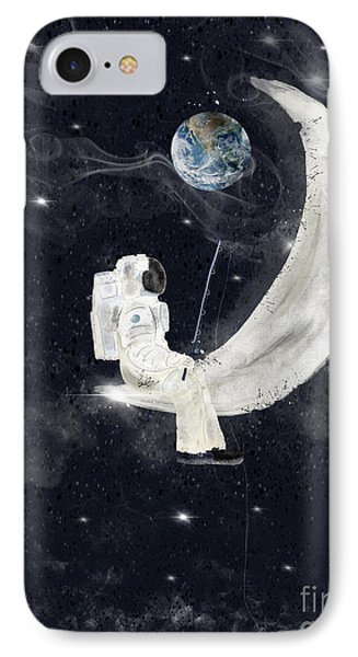 IPhone Case featuring the painting Fishing For Stars by Bri B
