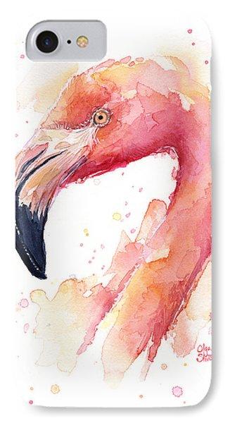 Flamingo Watercolor  IPhone 7 Case
