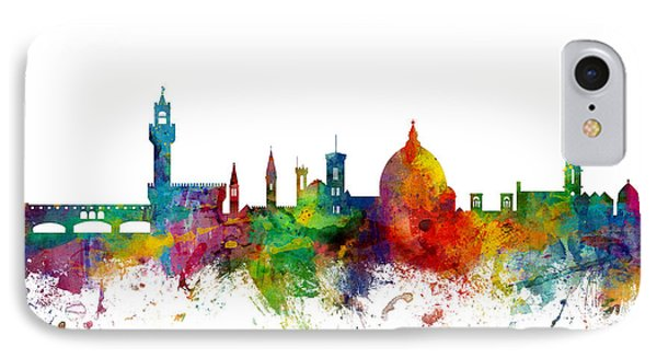 Florence Italy Skyline IPhone Case by Michael Tompsett