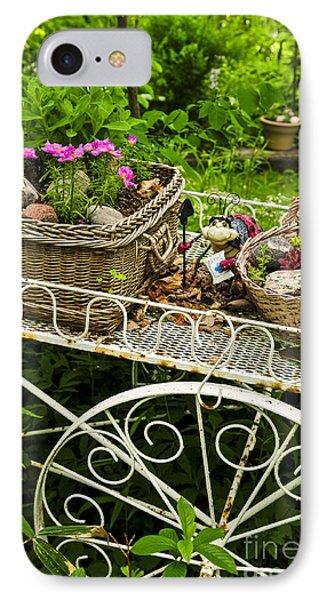 Flower Cart In Garden Phone Case by Elena Elisseeva
