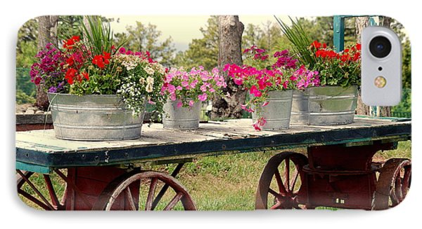 Flower Wagon Phone Case by Susanne Van Hulst