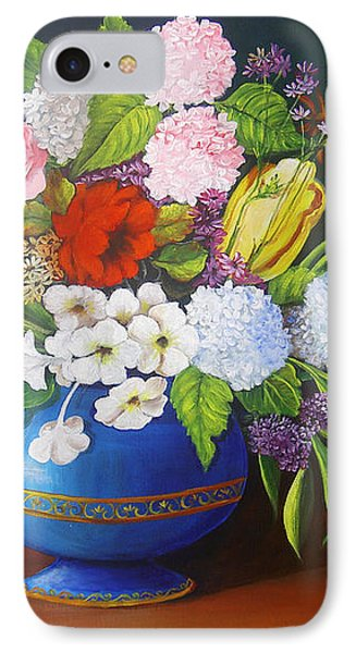 Flowers In A Vase Phone Case by Dominica Alcantara
