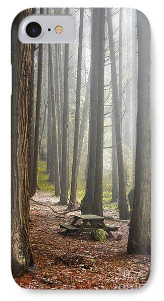 Foggy Forest IPhone Case by Carlos Caetano
