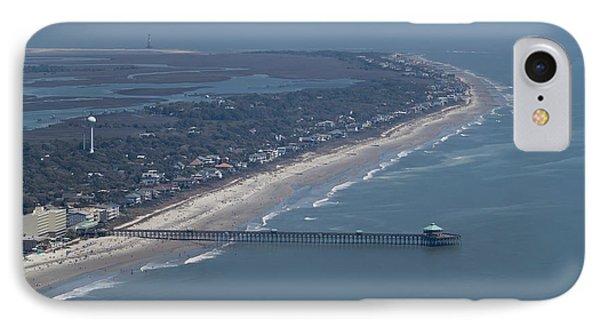 Folly Beach South Carolina Aerial IPhone Case by Dustin K Ryan