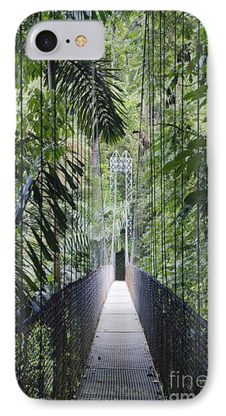 Footbridge In Costa Rican Forest Phone Case by Jeremy Woodhouse