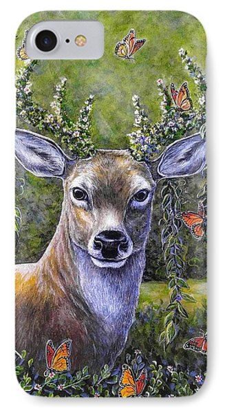 Forest Monarch IPhone Case by Gail Butler