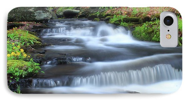 Forest Stream And Marsh Marigolds IPhone Case by John Burk