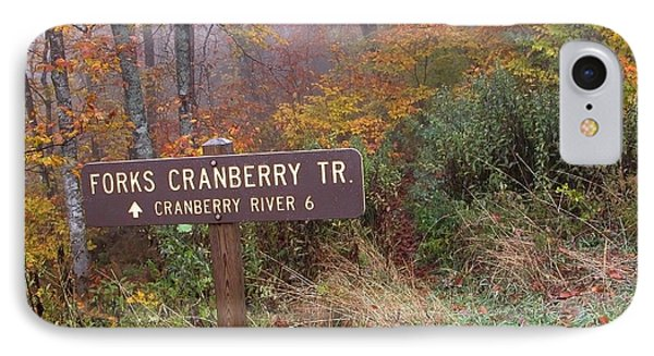 Forks Of Cranberry Trail IPhone Case by Thomas R Fletcher