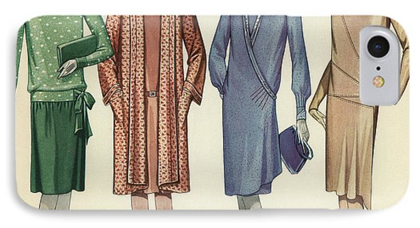 Four Flappers Modelling French Designer Outfits, 1928  IPhone Case by American School