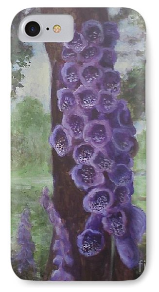 IPhone Case featuring the painting Foxglove by Randol Burns