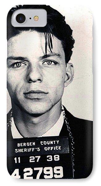 Frank Sinatra Mug Shot Vertical IPhone Case by Tony Rubino