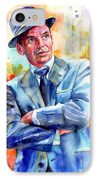 Fairy iPhone 7 Case - Frank Sinatra Young Painting by Suzann's Art