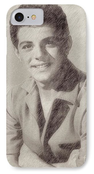 Frankie Avalon Singer IPhone Case by Frank Falcon