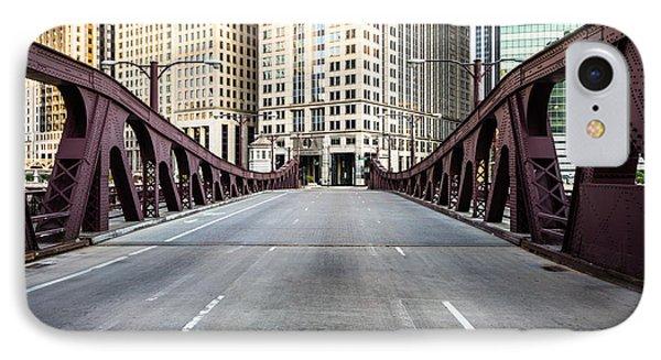 Franklin Orleans Street Bridge Chicago Loop IPhone Case by Paul Velgos