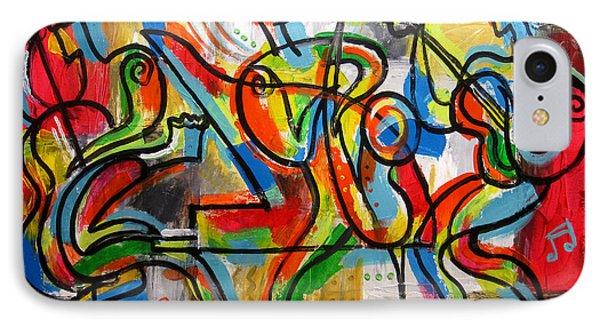 Free Jazz IPhone Case by Leon Zernitsky
