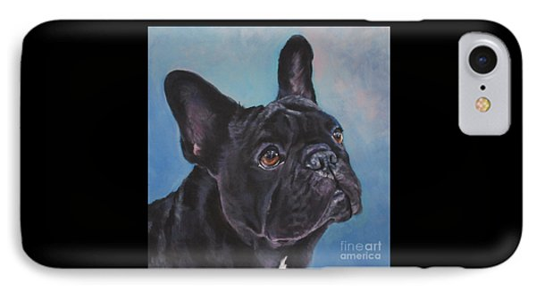 IPhone Case featuring the painting French Bulldog by Lee Ann Shepard