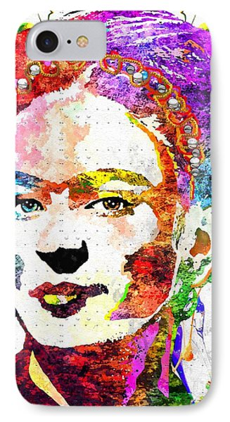 Frida Kahlo Grunge IPhone Case by Daniel Janda