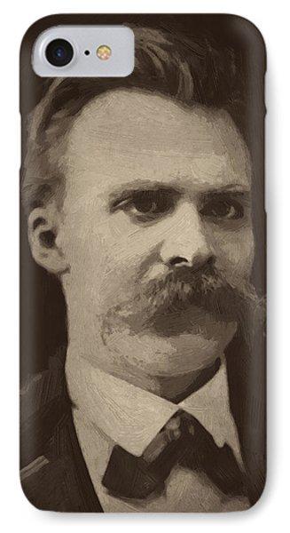 Friedrich Nietzsche IPhone Case by Afterdarkness