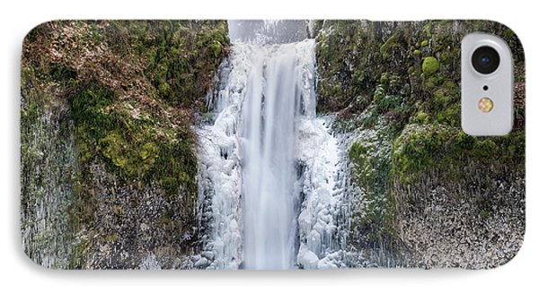 Frozen At Multnomah Falls Phone Case by David Gn
