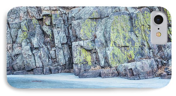 Frozen River And Rocky Cliff IPhone Case by Marek Uliasz