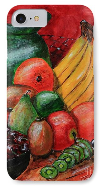 Fruit And Pitcher IPhone Case by Melvin Turner