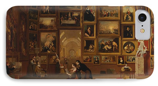 Gallery Of The Louvre IPhone Case by Samuel Morse