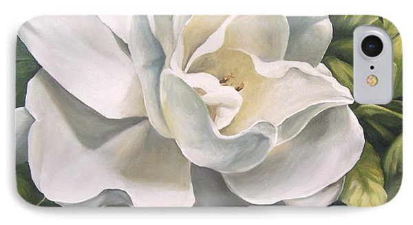 IPhone Case featuring the painting Gardenia by Natalia Tejera