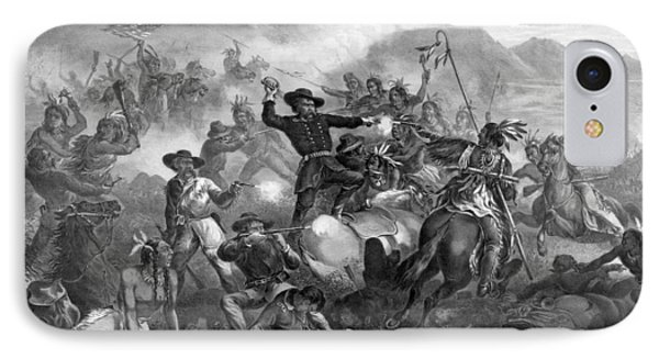 General Custer's Death Struggle IPhone Case by War Is Hell Store