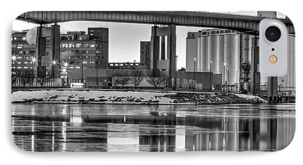 IPhone Case featuring the photograph General Mills From The River by Don Nieman