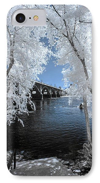 Gervais Street Bridge In Ir IPhone Case by Charles Hite