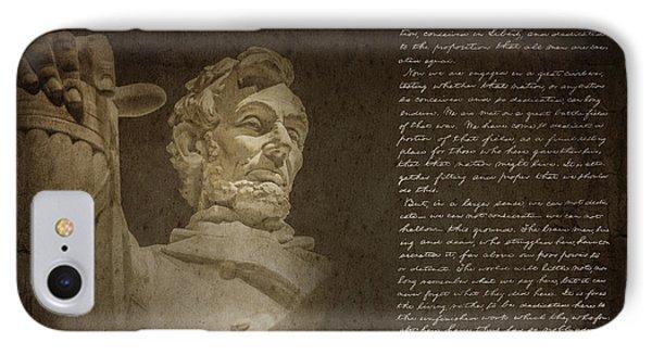 Gettysburg Address IPhone 7 Case by Diane Diederich