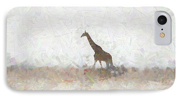 IPhone Case featuring the digital art Giraffe Abstract by Ernie Echols