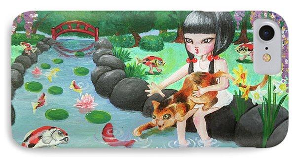 Girl IPhone Case by Akiko Okabe