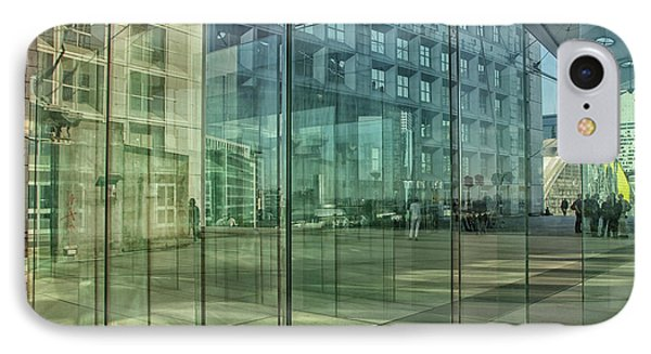 IPhone Case featuring the photograph Glass Panels At Le Grande Arche by Patricia Hofmeester