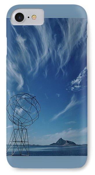 Globe Symbol View  On Sky Background In Norway IPhone Case by Tamara Sushko