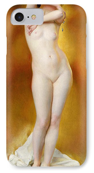 Glow Of Gold Gleam Of Pearl IPhone Case by William McGregor Paxton