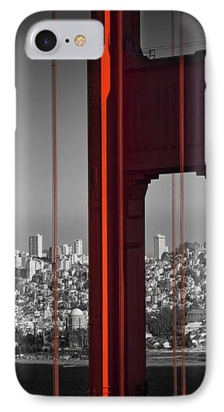 Golden Gate Bridge Panoramic IPhone Case by Melanie Viola