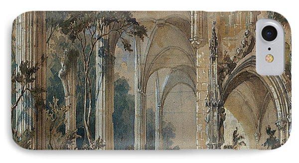 Gothic Church Ruin IPhone Case by Carl Blechen