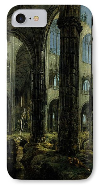 Gothic Church Ruins IPhone Case by Carl Blechen