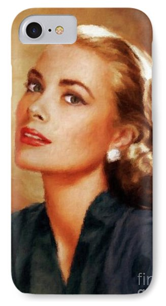 Grace Kelly iPhone 7 Case - Grace Kelly, Actress And Princess by Mary Bassett