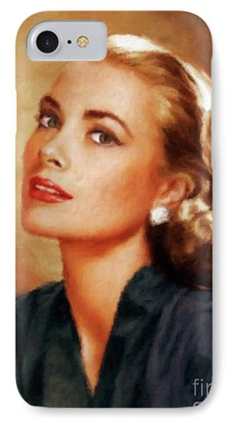 Grace Kelly, Actress And Princess IPhone Case by Mary Bassett