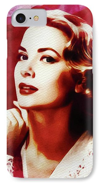 Grace Kelly iPhone 7 Case - Grace Kelly, Hollywood Legend by John Springfield