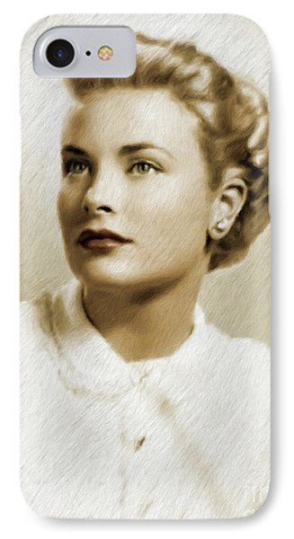 Grace Kelly iPhone 7 Case - Grace Kelly, Vintage Actress by Mary Bassett