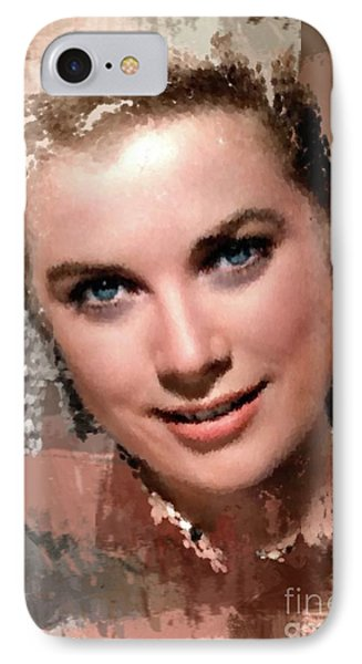 Grace Kelly iPhone 7 Case - Grace Kelly, Vintage Hollywood Actress by Mary Bassett