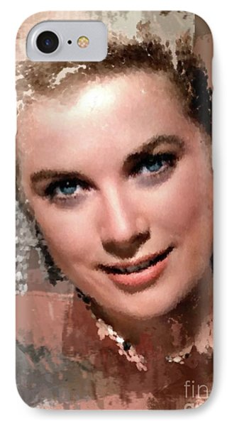 Grace Kelly, Vintage Hollywood Actress IPhone Case by Mary Bassett